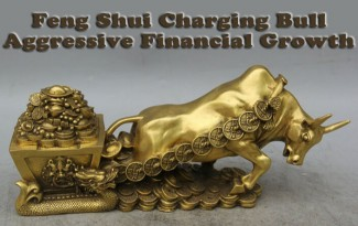 Feng Shui Charging Bull for Aggression in Financial Growth - AlternateHealing.net
